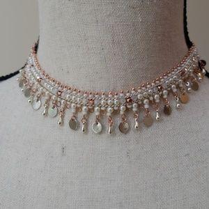 Nakamol adjustable metal and bead choker NWT